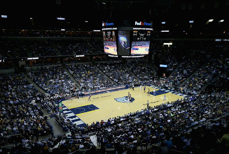 MEMPHIS, TN - NOVEMBER 11: A general view of the arena during the game between the Los Angeles Lakers and the Memphis Grizzlies at FedExForum on November 11, 2014 in Memphis, Tennessee. (Photo by Andy Lyons/Getty Images)