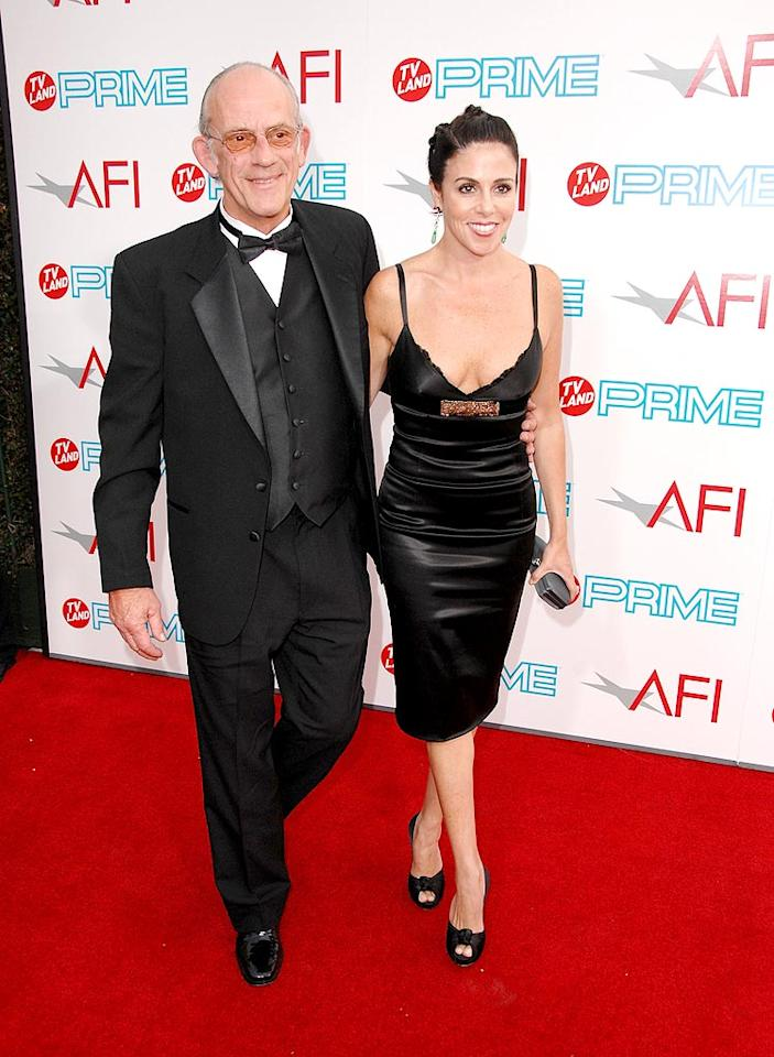 """<a href=""""http://movies.yahoo.com/movie/contributor/1800013087"""">Christopher Lloyd</a> and Mary Ann Contreras at the 37th Annual AFI Lifetime Achievement Awards - 6/11/2009"""