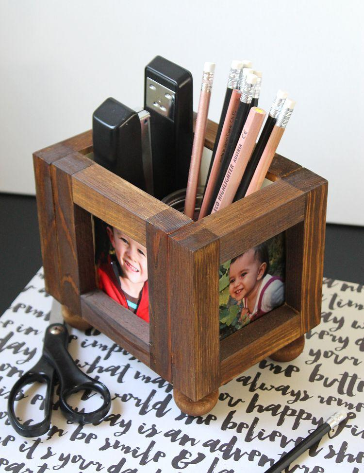 """<p>Add a touch of sophistication—and some familiar faces—to his desk. </p><p><a href=""""https://www.thecraftpatchblog.com/diy-wood-picture-frame-desktop-organizer/"""" rel=""""nofollow noopener"""" target=""""_blank"""" data-ylk=""""slk:Get the tutorial."""" class=""""link rapid-noclick-resp"""">Get the tutorial.</a></p><p><a class=""""link rapid-noclick-resp"""" href=""""https://go.redirectingat.com?id=74968X1596630&url=https%3A%2F%2Fwww.walmart.com%2Fip%2FGorilla-Wood-Glue-8-oz%2F15085314&sref=https%3A%2F%2Fwww.oprahdaily.com%2Flife%2Fg27603456%2Fdiy-homemade-fathers-day-gifts%2F"""" rel=""""nofollow noopener"""" target=""""_blank"""" data-ylk=""""slk:SHOP WOOD GLUE"""">SHOP WOOD GLUE</a></p>"""