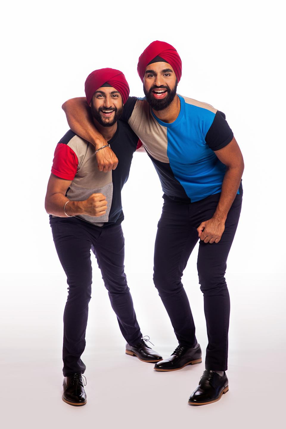 The Amazing Race Australia 2021 contestants Jaskirat and Anurag, NSW. Photo: Channel 10 (supplied).