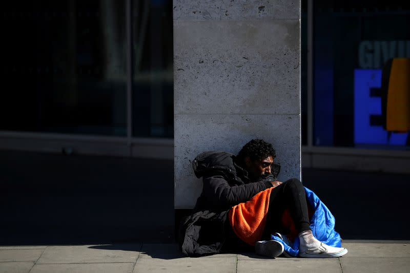 UK homeless face double winter whammy of COVID-19, deep freeze