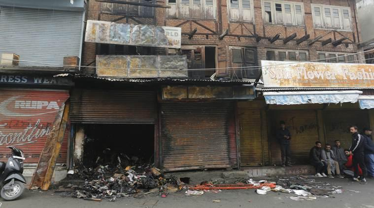 Jammu and Kashmir issue, Jammu and Kashmir shops shut, Kashmir valley shops shut, Jammu and Kashmir Bifurcation, kashmir, article 370, j&K shops, amit shah, J&k normalcy, indian express