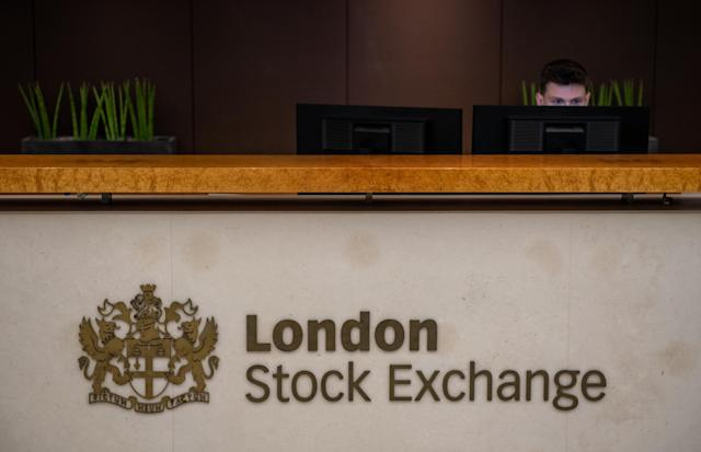 A reception desk at the London Stock Exchange. Photo: Chris J Ratcliffe/Getty Images