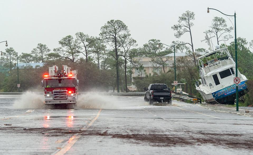 Hurricane Sally leaves widespread damage in Orange Beach, Ala. Wednesday, Sept. 16, 2020.