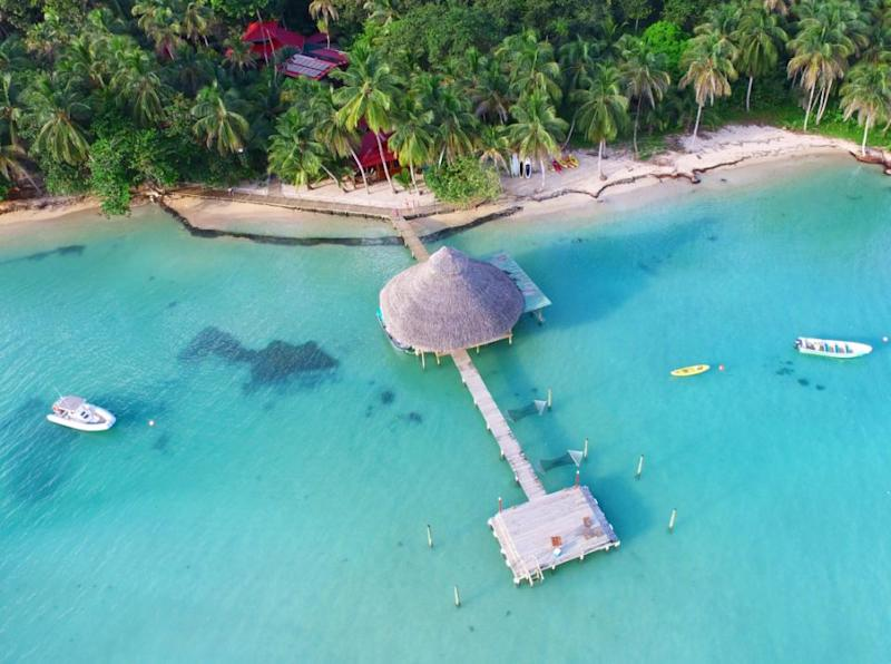 A couple are selling off their incredible adventure lodge on a luxury island for next to nothing. Photo: Magnus News Agency
