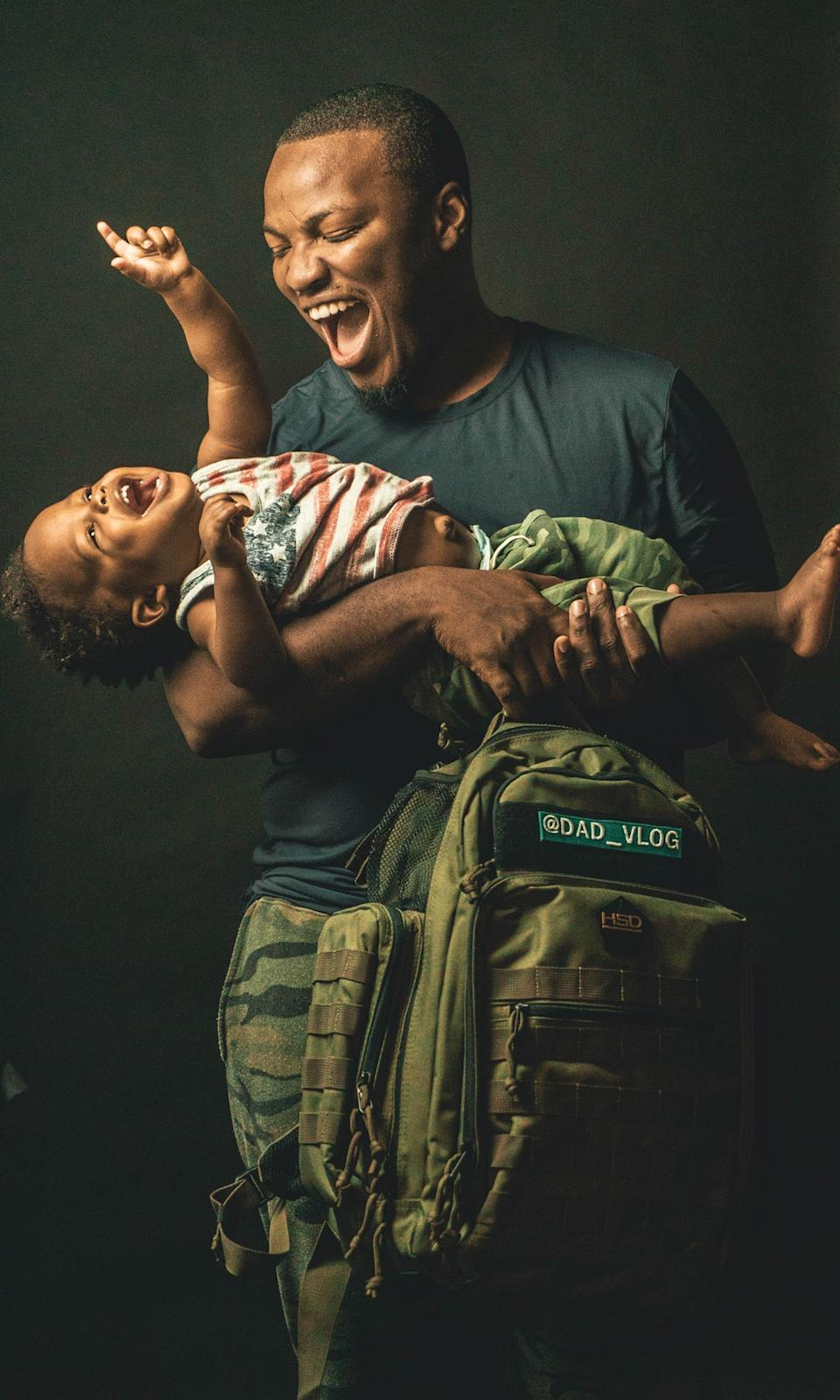 Ward captures cute and tender moments with his son Taj, 2, and shares them on social media. (D'Anthony Ward)