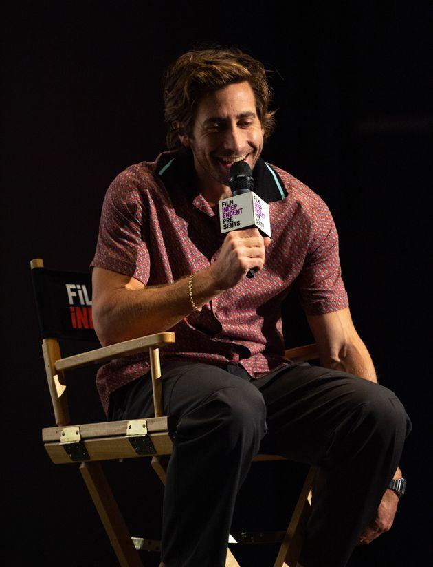 Jake Gyllenhaal pictured over the weekend (Photo: Amanda Edwards via Getty Images)