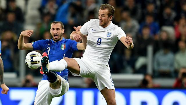 Tottenham striker Harry Kane is looking forward to testing himself against the quality - and physicality - of Juventus' Giorgio Chiellini.