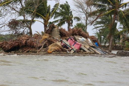 Homes in low-lying areas were flattened by storm surges associated with Cyclone Amphan