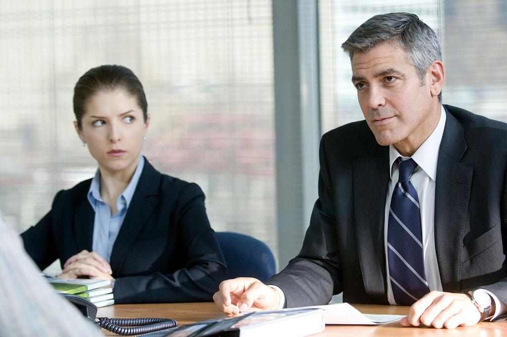 """<a href=""""http://movies.yahoo.com/movie/1810062520/info"""">Up in the Air</a> (2009): Clooney is at the height of his dynamism here as a man who makes a living by firing other people. This would seem like an insurmountable contradiction, but Jason Reitman's film fleshes out the character, Ryan Bingham, with shadings and subtlety, and Clooney gets excellent support from co-stars Vera Farmiga and Anna Kendrick. (All three received Academy Award nominations.) Ryan jets across the country, handing out pink slips without batting an eye and worrying only about increasing his frequent-flier miles. He breezes through life efficiently, and Clooney's naturally masculine energy gives the character real zing, but he also finds the soulfulness that's eventually required of the role, as well."""