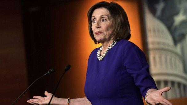 PHOTO: Speaker of the House Rep. Nancy Pelosi speaks during her weekly news conference, Feb. 6. 2020, on Capitol Hill in Washington, D.C., the day after President Trump was acquitted, ending the impeachment trial. (Alex Wong/Getty Images)
