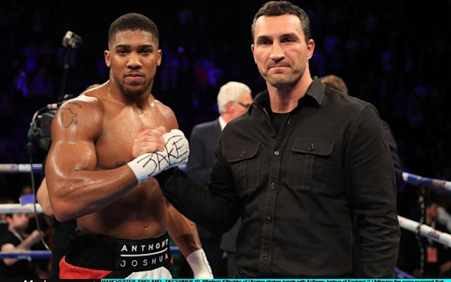 The Road: the Joshua-Klitschko fight was announced whenWladimir Klitschko entered the ring after Joshua beat Eric Mollina - Getty Images Sport