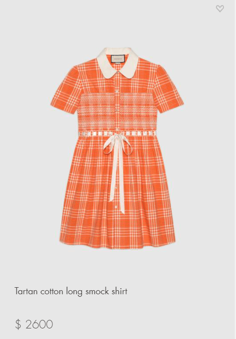 Gucci Tartan Dress