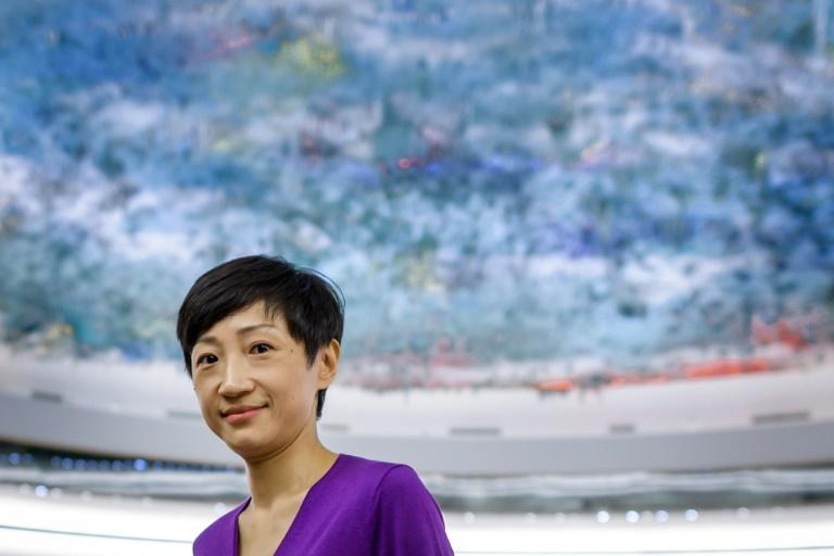 Hong Kong's pro-democracy Civic Party founder Tanya Chan told the UN Human Rights Council there was 'no sign that police will exercise restraint' (AFP Photo/FABRICE COFFRINI)
