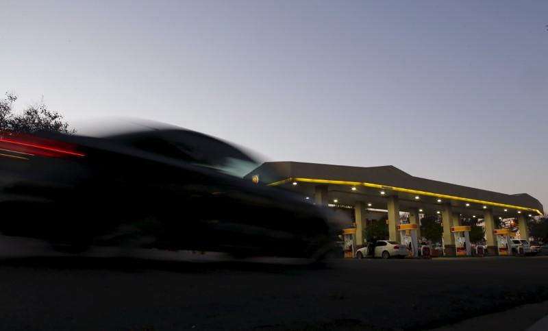 FILE PHOTO: A Shell gas station is shown in Encinitas, California