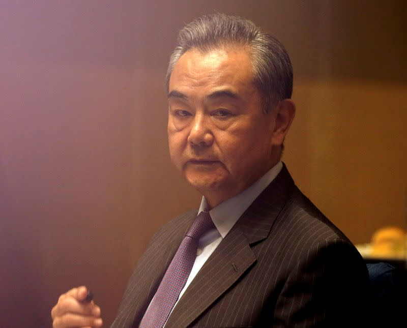 FILE PHOTO: China's Foreign Minister Wang Yi visits Philippines