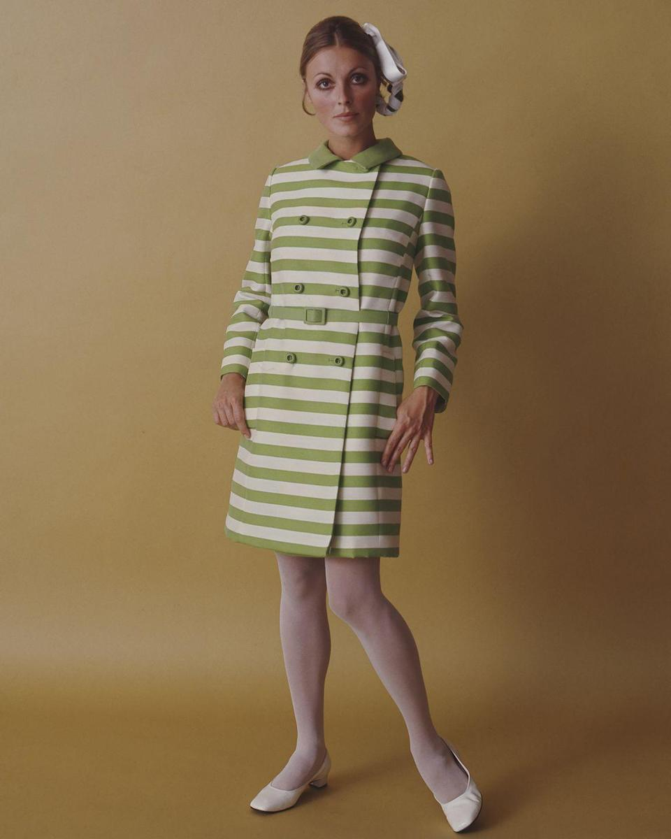 <p>After Tate's family returned to the United States, she found work as a fashion model in 1960 while she pursued her acting career.</p>