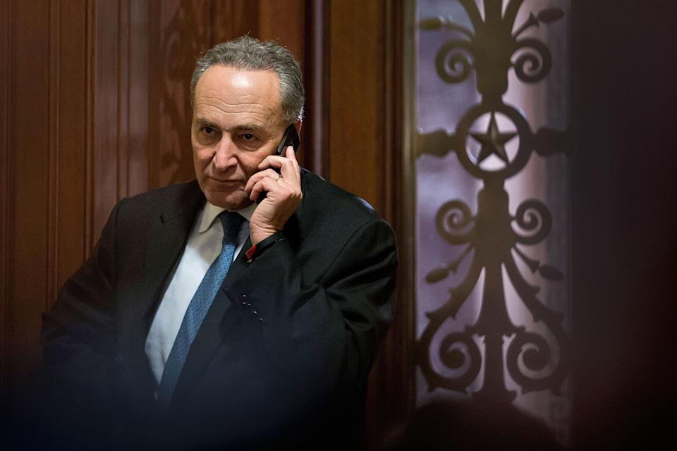 Sen. Chuck Schumer has been very outspoken against robocalls and ringless voicemails. Source: AP