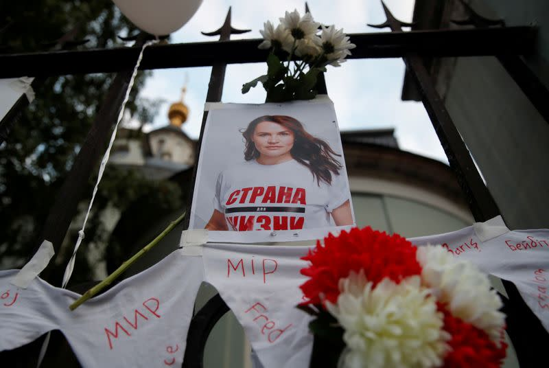 Belarusian opposition leader sees herself as a symbol of change