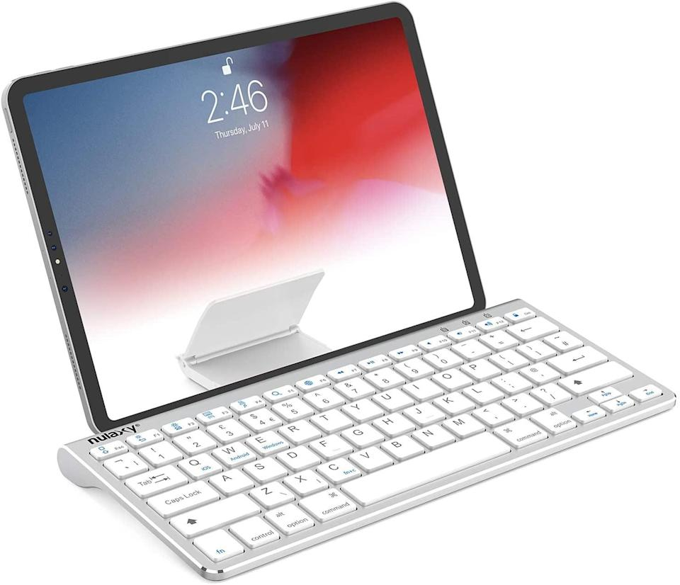 <p><span>Nulaxy KM13 Bluetooth Keyboard With Sliding Stand</span> ($19, originally $22)</p>
