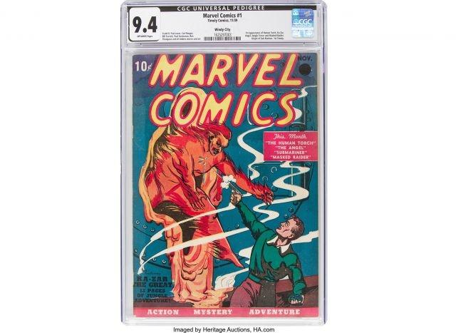From 10 cents to $1.3 million, first Marvel comic sets auction record