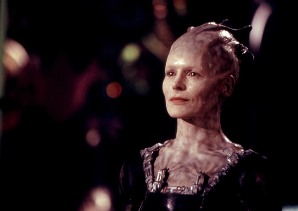 """<b>The Borg Queen </b>(Alice Krige)<br>""""<a href=""""http://movies.yahoo.com/movie/star-trek-first-contact/"""">Star Trek: First Contact</a>"""" (1996)"""