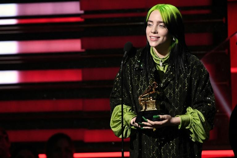US singer-songwriter Billie Eilish made a clean sweep of the top four Grammy awards -- Song, Album and Record of the Year, plus Best New Artist