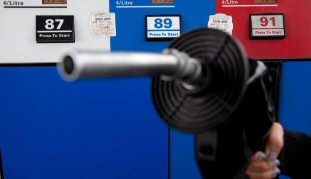 Newfoundland and Labrador drivers are paying record prices at the pumps for gas this week after the Public Utilities Board approved an increase of half a cent per litre. (Jonathan Hayward/The Canadian Press - image credit)