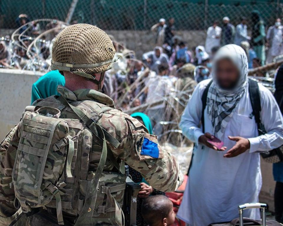 British troops on the ground at Kabul airport are working to process Afghans hoping to be evacuated (LPhot Ben Shread/MoD/Crown Copyright/PA) (PA Media)