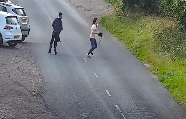 A man and a woman are among three people thought to have been in the Renault