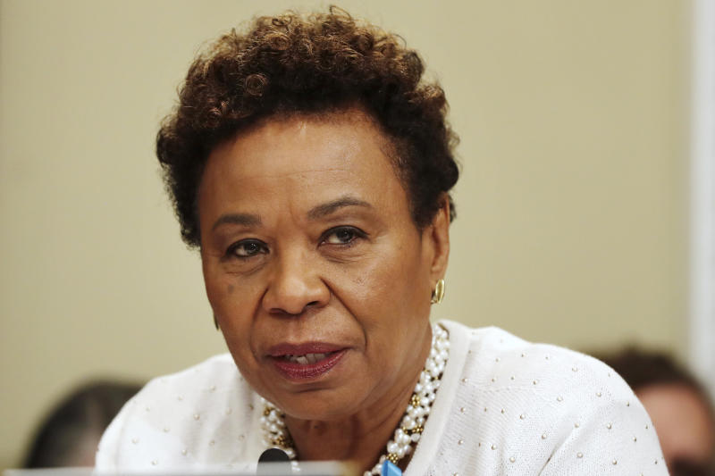 Rep. Barbara Lee (D-Calif.) is running to lead the House Democratic Caucus. She said there's never been an African-American woman elected to leadership. (ASSOCIATED PRESS)