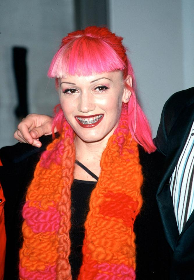 Gwen Stefani, age 30, at the opening gala of the 57th Street Christian Dior boutique in New York City, December 1999.