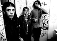 <p>Kurt Cobain formed Nirvana in 1987 with Krist Novoselic and Aaron Burckhard. The group became one of the first and leading musicians of the alternative rock and grunge movement in the '90s.</p>