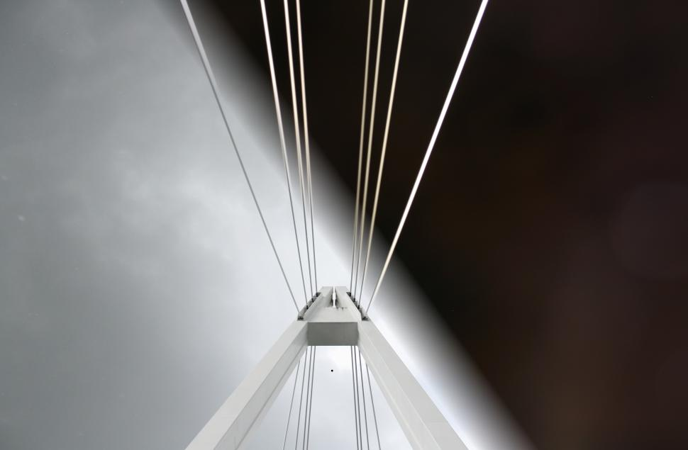 This photo of a bridge in Finland has both a night sky and a cloudy day.  (Photo: Christoph Baumann / Gizmodo.com)
