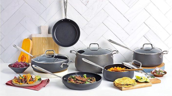 This nonstick set is a breeze to clean.