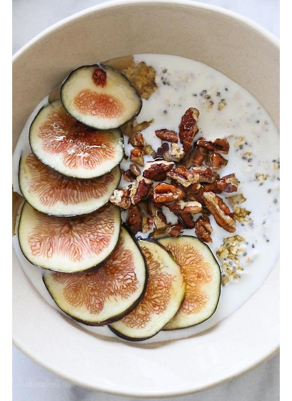 figs and honey overnight oats