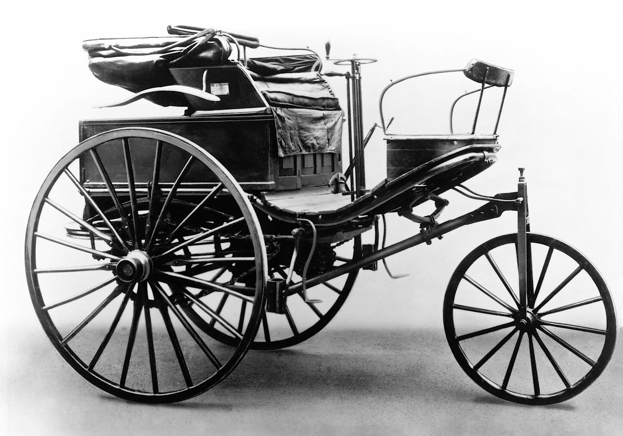 <p>Engineer Karl Benz's Patent Motorwagen was the first production automobile ever made. Debuted in the summer of 1886, with an engine that could barely muster 16km/h, the car proved its mettle in 1888 when Benz's wife Bertha took the Motorwagen Nr. 3 for the first ever long-distance drive – covering almost 60 miles. Shortly thereafter racing over long distances became an increasingly popular sport, one that put a car's reliability to the test, as much as its speed.<br />Photo of the Benz patent motor car, model no. 3, 1888. Image courtesy of Daimler (V&A Museum) </p>