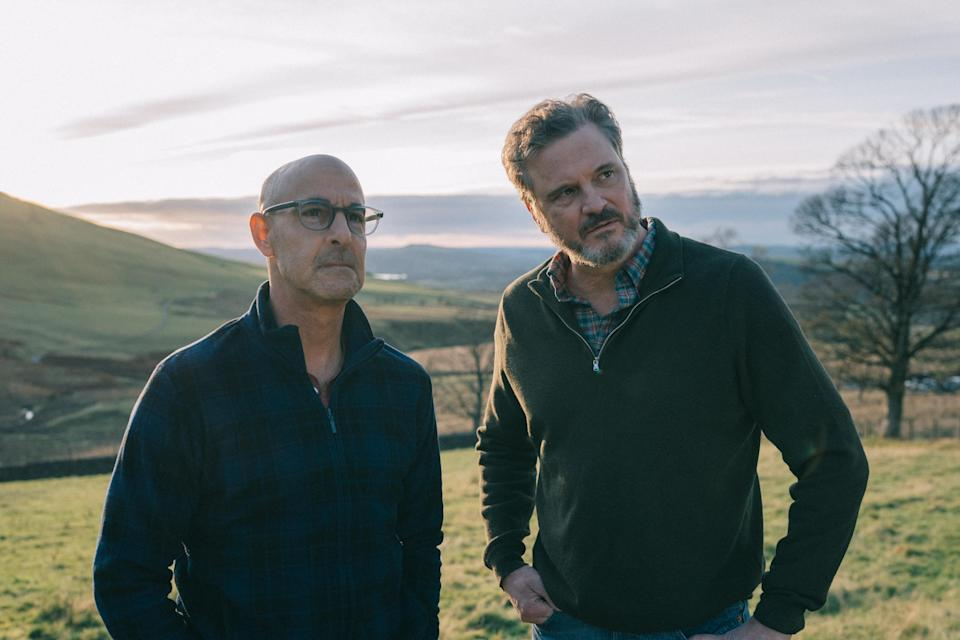 Stanley Tucci and Colin Firth in Supernova (StudioCanal)