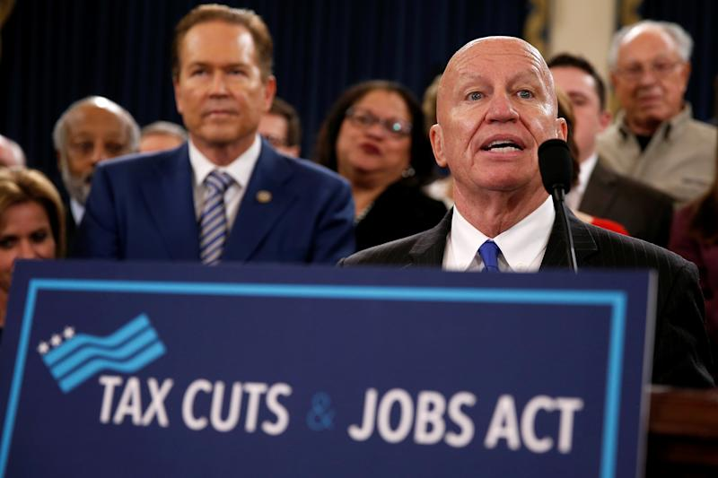 Rep. Kevin Brady (R-Texas) unveils legislation to overhaul the tax code on Capitol Hill, Nov. 2, 2017.  (Joshua Roberts / Reuters)