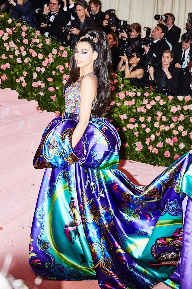 Dua Lipa on the red carpet at the Met Gala in New York City on Monday, May 6th, 2019. Photograph by Amy Lombard for W Magazine.