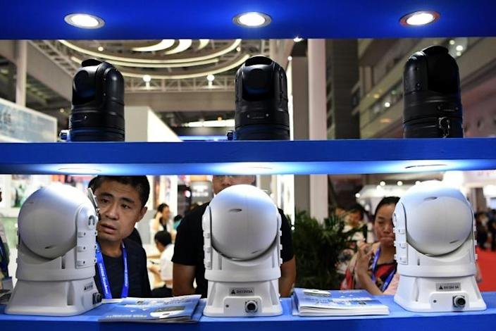 China is the best represented of the 53 nations at the security fair save for host nation France (AFP Photo/NOEL CELIS)