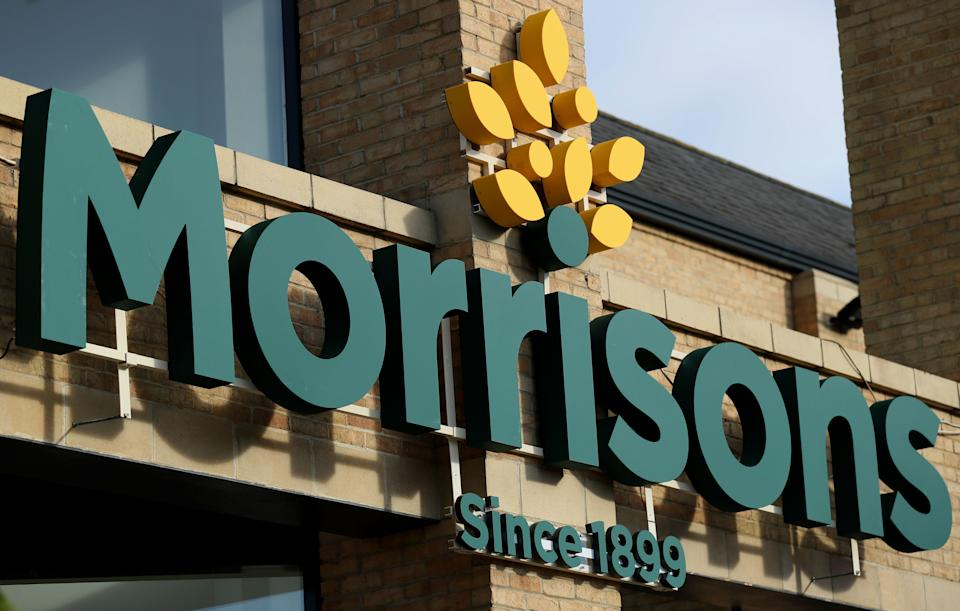"""File photo dated 30/09/16 of a Morrisons store. The supermarket has seen retail sales jump %% since its financial year end due to """"considerable"""" stockpiling amid the coronavirus crisis."""
