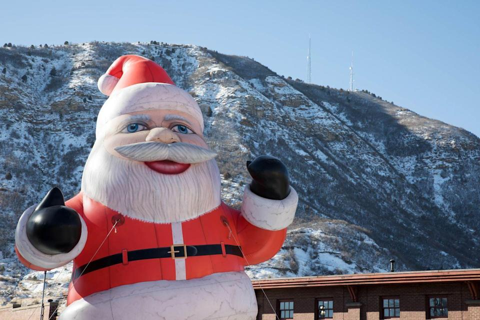 """<p>Apart from winter sports like skiing, snowmobiling, and dog sledding, <a href=""""https://www.durango.com/christmas-season-in-durango-colorado/"""" rel=""""nofollow noopener"""" target=""""_blank"""" data-ylk=""""slk:Durango, Colorado"""" class=""""link rapid-noclick-resp"""">Durango, Colorado</a>, has a long list of Christmas activities that'll keep everyone entertained. The town's Polar Express takes you to the North Pole where Santa himself gives every kid aboard a personal gift. Another train in the town takes you to a farm where you can cut down your own Christmas tree and bring it back into town with you. </p>"""