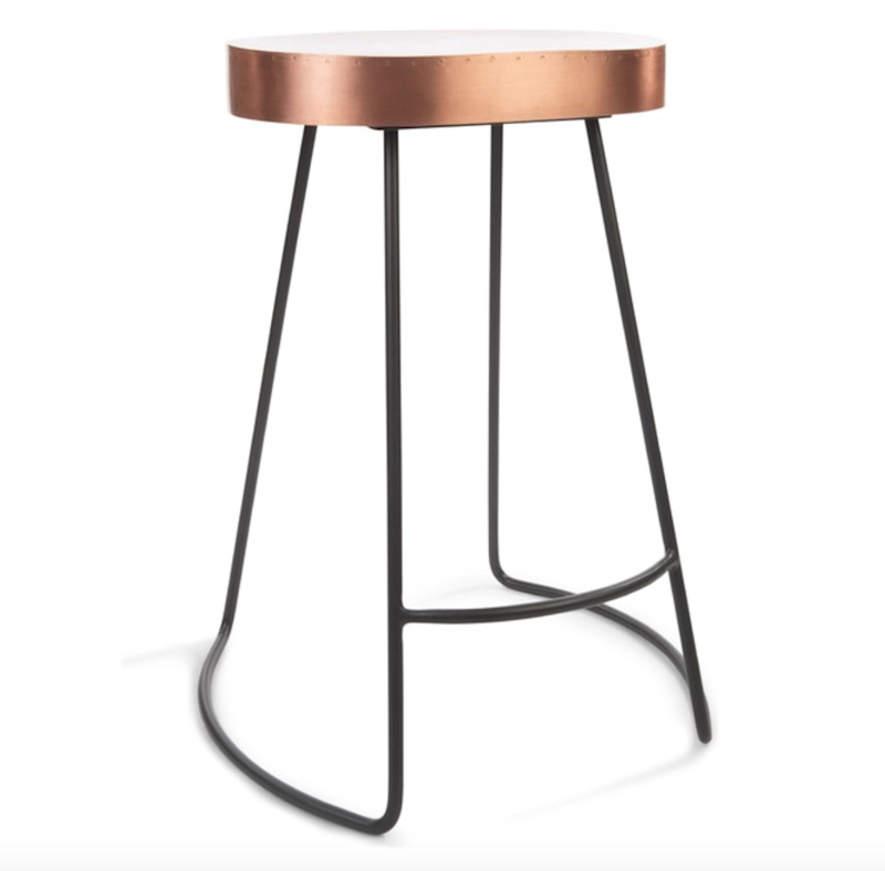 Boasting a slim metal frame with copper accents, this counter stool is both modern and utilitarian. SHOP NOW: Remy Copper Counter Stool by Houzz, $78 $149, houzz.com