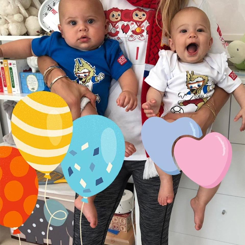"""<p>Kournikova and <a href=""""https://people.com/tag/enrique-iglesias/"""" rel=""""nofollow noopener"""" target=""""_blank"""" data-ylk=""""slk:Iglesias"""" class=""""link rapid-noclick-resp"""">Iglesias</a> welcomed their first children, twins <a href=""""https://people.com/babies/enrique-iglesias-anna-kournikova-welcome-twins-boy-girl/"""" rel=""""nofollow noopener"""" target=""""_blank"""" data-ylk=""""slk:Nicholas and Lucy"""" class=""""link rapid-noclick-resp"""">Nicholas and Lucy</a>, on Dec. 16, 2017 in Miami. </p>"""