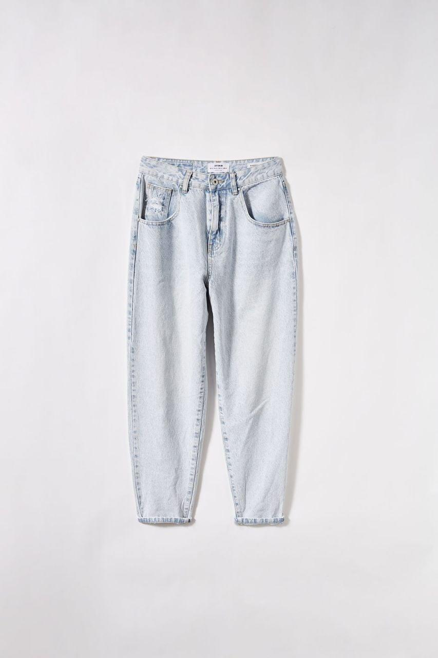 <p>The loose, slouchy fit here is a unique take on mom jeans. These <span>Slouch Mom Jean</span> ($50) can be rolled up or down depending on the look you're going for. </p>