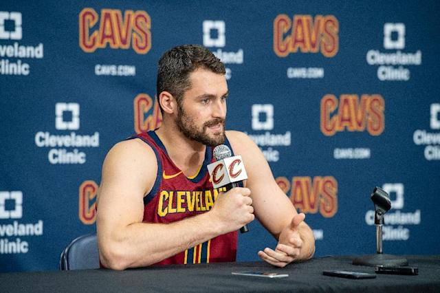 Kevin Love says he is ready to lead the Cleveland Cavaliers in the post-LeBron James era (AFP Photo/Jason Miller)