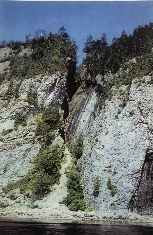 The steep ravine nicknamed 'Glooscap's Gully,' pictured in 1973.