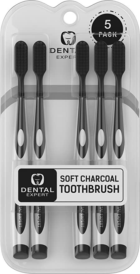 "<h2>Activated Charcoal Teeth Whitening Toothbrushes</h2> <br>With this 5-pack, you get soft-bristled, top-quality, and highly effective charcoal toothbrushes that clean your teeth properly while also whitening that smile. <br><br><strong>dental expert store</strong> Activated Charcoal Teeth Whitening Toothbrushes, $, available at <a href=""https://www.amazon.com/Charcoal-Toothbrush-GENTLE-Whitening-Children/dp/B0777SKKBL/ref=sr_1_10?"" rel=""nofollow noopener"" target=""_blank"" data-ylk=""slk:Amazon"" class=""link rapid-noclick-resp"">Amazon</a>"