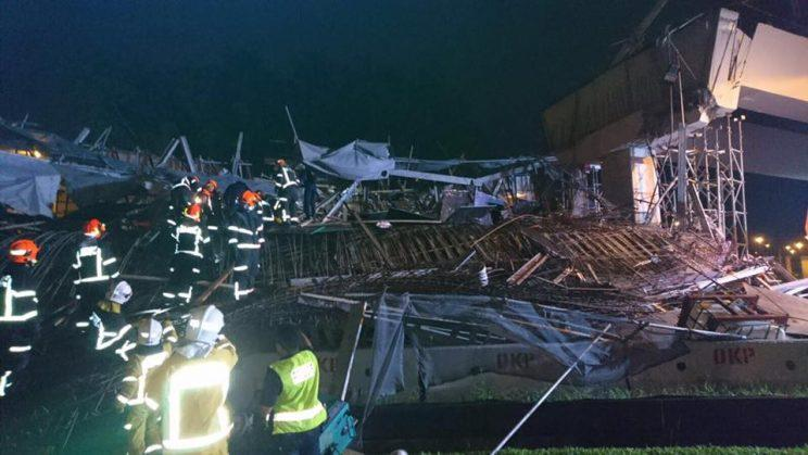 Unfinished Highway Structure on PIE collapsed and killed Chinese Migrant Worker